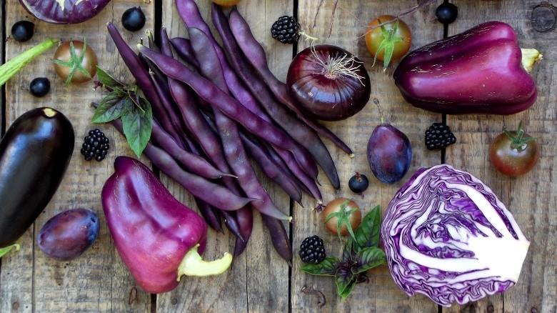 фиолетовая еда