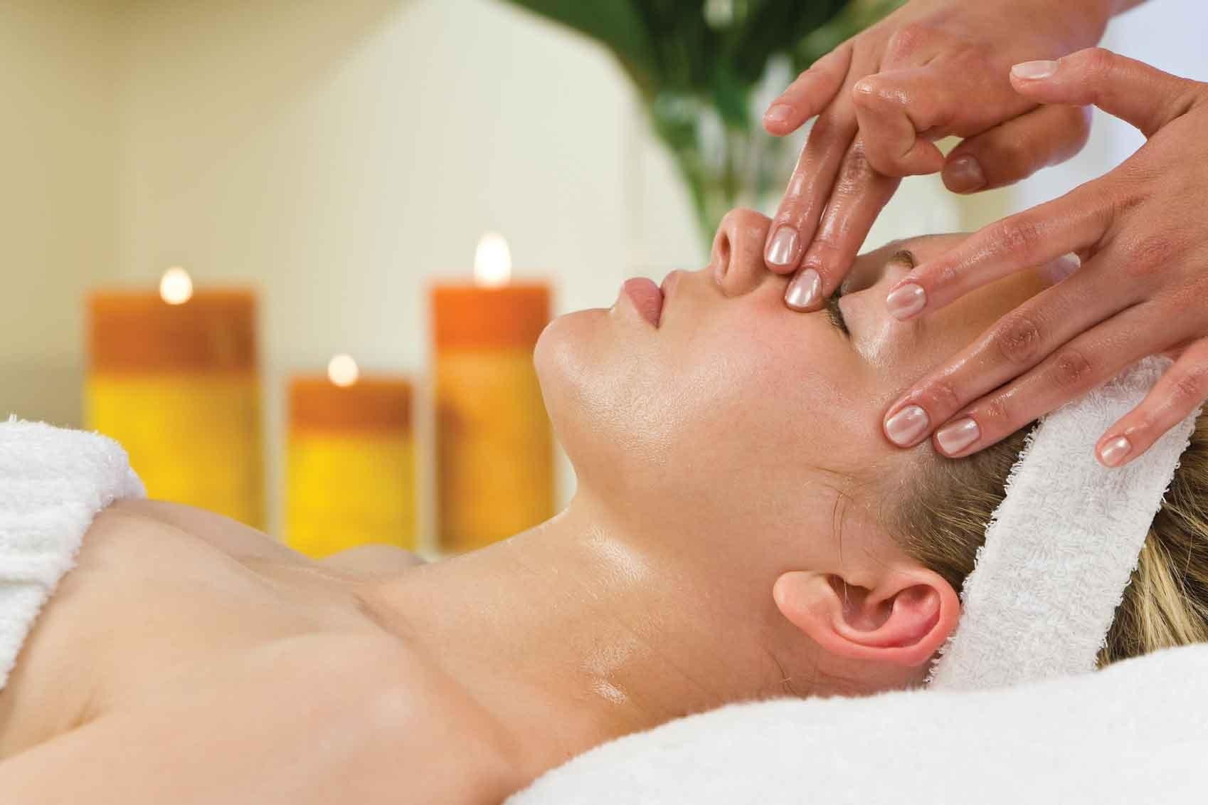 массаж для лица с эфирными маслами